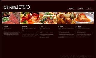 Restaurants Website Design : dinnerJetso